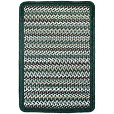 Vineyard Haven Green Meadows/Solid Dark Green Indoor/Outdoor Area Rug