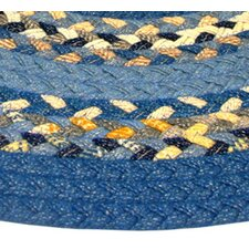 Minuteman Rust Light Blue Multi with Dark Blue Solids Multi Runner Rug