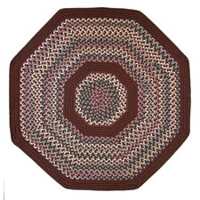 Pioneer Valley II Indian Summer with Burgundy Solids Octagon Outdoor Rug