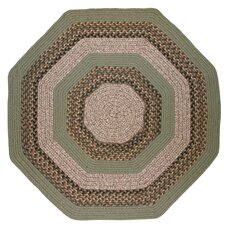 Beantown Boston Garden Octagon Green/Brown Area Rug