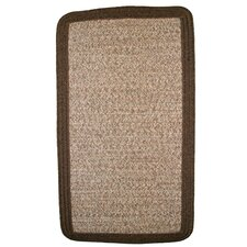 Town Crier Brown Heather with Brown Solids Indoor/Outdoor Rug
