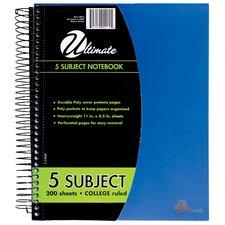 "8.5"" x 11"" 5-Subject Notebook"