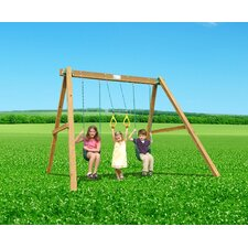 Classic Swing Set with Swing Beam and Chained Accessories
