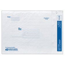 "12"" USPS Poly Bubble Mailer in White"