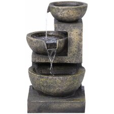 Rocca Outdoor Resin Tiered Fountain