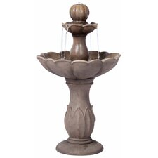 Lyon Outdoor Resin Tiered Fountain