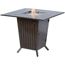Plank Aluminum Gas Fire Pit Table