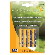 4 Count Paradise® Ni-Cd 1.2V AA Rechargeable Batteries