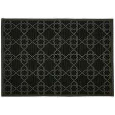 Antebellum Black Geometric Indoor/Outdoor Area Rug