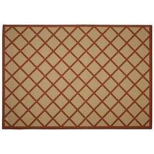 Hammock Coast Red Geometric Indoor/Outdoor Area Rug