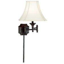 "Wentworth Wall Swing Arm 17"" H Table Lamp with Bell Shade"