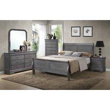 Louis Phillip Queen Sleigh Customizable Bedroom Set