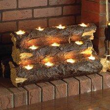Resin Tealight Fireplace Log