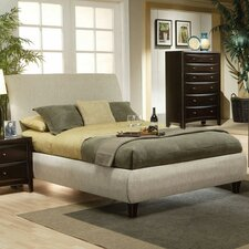 Applewood Contemporary Upholstered Panel Bed