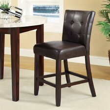 """Laurence 24"""" Bar Stool with Cushion (Set of 2)"""