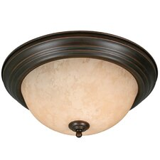 Rockland 2 Light Flush Mount in Rubbed Bronze