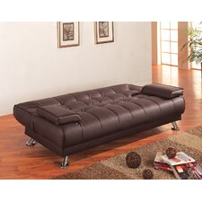 Convertible Sofa in Rich Brown
