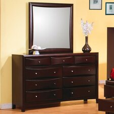 Applewood 9 Drawer Dresser with Mirror