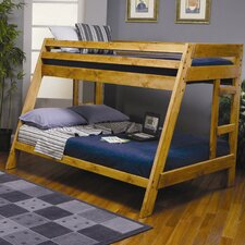 San Anselmo Twin over Full Bunk Bed with Built-In Ladder