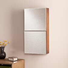 Florence Double-Door Wall Mount Jewelry Cabinet