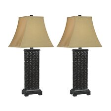 """Bradley 28.25"""" H Table Lamp with Bell Shade (Set of 2)"""