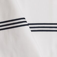 Baratto Standard Pillowcase with Embroidered Stripes