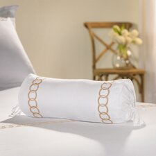 Rings Embroidered Neck Roll Cotton Bolster Pillow