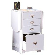 4-Drawer Kirnwood Fold Out Organizer and Craft Computer Desk