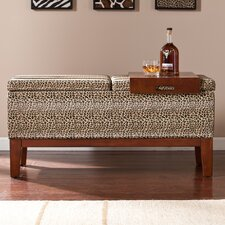 Barbados Faux Leather Storage Entryway Bench
