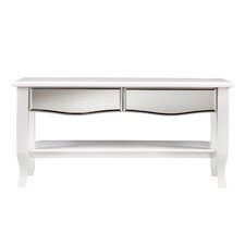 Marcel White Mirrored Cocktail/Coffee Table
