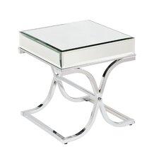 Caraman Mirrored End Table