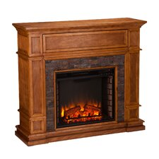 Gaines Simulated Stone Media Center Electric Fireplace