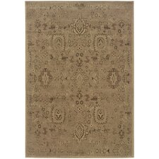 Olivia Distressed Traditional Blue/Brown Area Rug