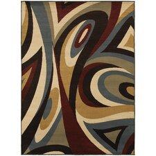 Steele Swirl Brown/Multi Area Rug