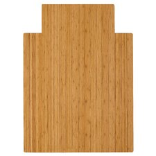 Low Pile and Hardwood Bamboo Office Chair Mat