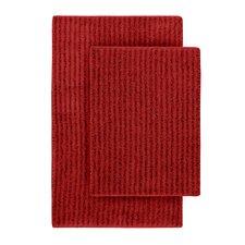 Devinne 2 Piece Red Bath Rug Set