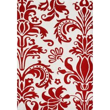 Cristalle Hand-Tufted Off-White/Red Rug