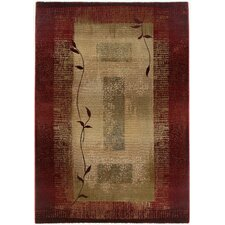 Hand-Woven Dark Red Area Rug