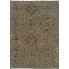 Valencia Distressed Traditional Blue/Grey Area Rug
