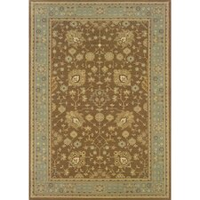 Cantebury Wool Traditional Tan/Blue Area Rug