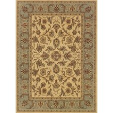 Cantebury Wool Traditional Beige/Blue Area Rug