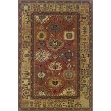 Yorkshire Hand-Crafted Wool Traditional Pink/Beige Area Rug