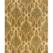 Aragon Hand-Crafted Wool Floral Beige/Green Area Rug