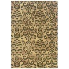 Adeline Hand-Crafted Wool Floral Ikat Beige/Brown Area Rug