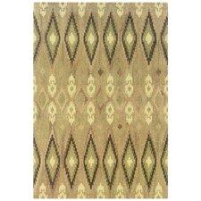 Adeline Hand-Crafted Wool Ikat Beige/Ivory Area Rug