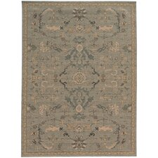 Hannah Wool Traditional Blue/Beige Area Rug