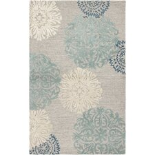 Amerique Hand-Tufted Light Gray Area Rug