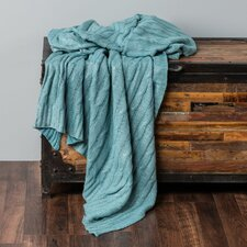 Chandee  Cable Knit Cotton Throw