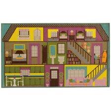 Reverie Doll House Green/Purple Area Rug