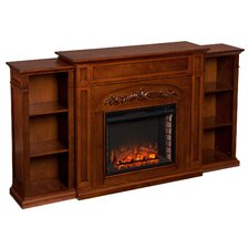 Mueller Bookcase with Electric Fireplace